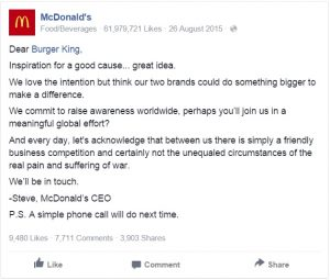 McDonald and Burger King