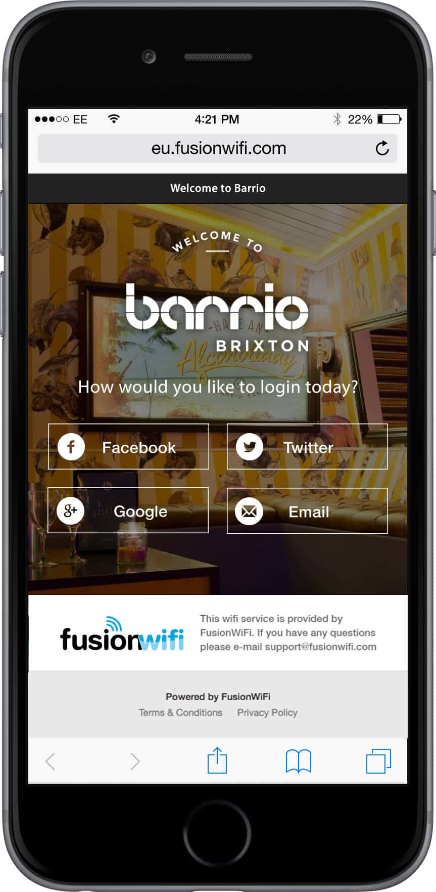 Social WiFi by Fusion WiFi - Suppliers of SocialWiFi, Globally