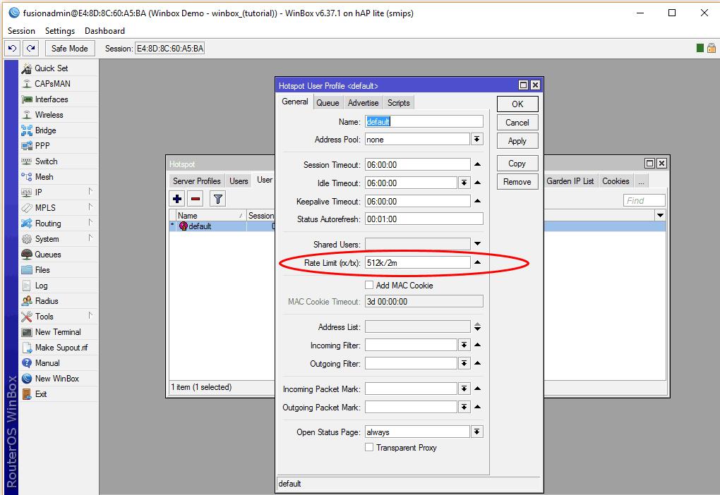 Restrict User Bandwidth - Fusion WiFi